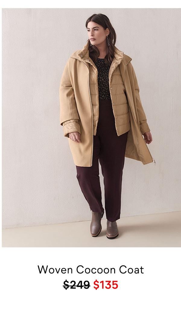 Woven Cocoon Coat