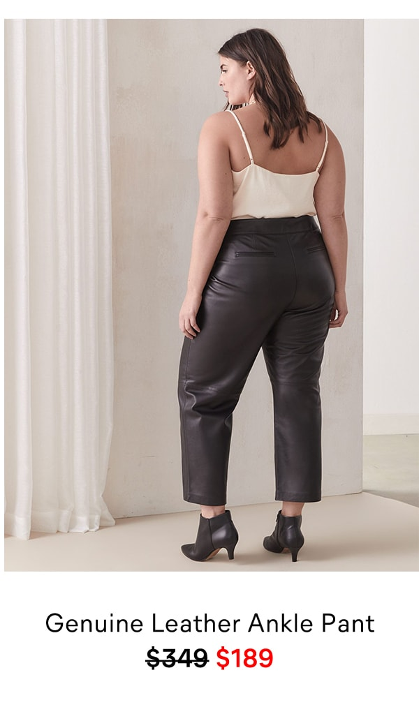 Genuine Leather Ankle Pant