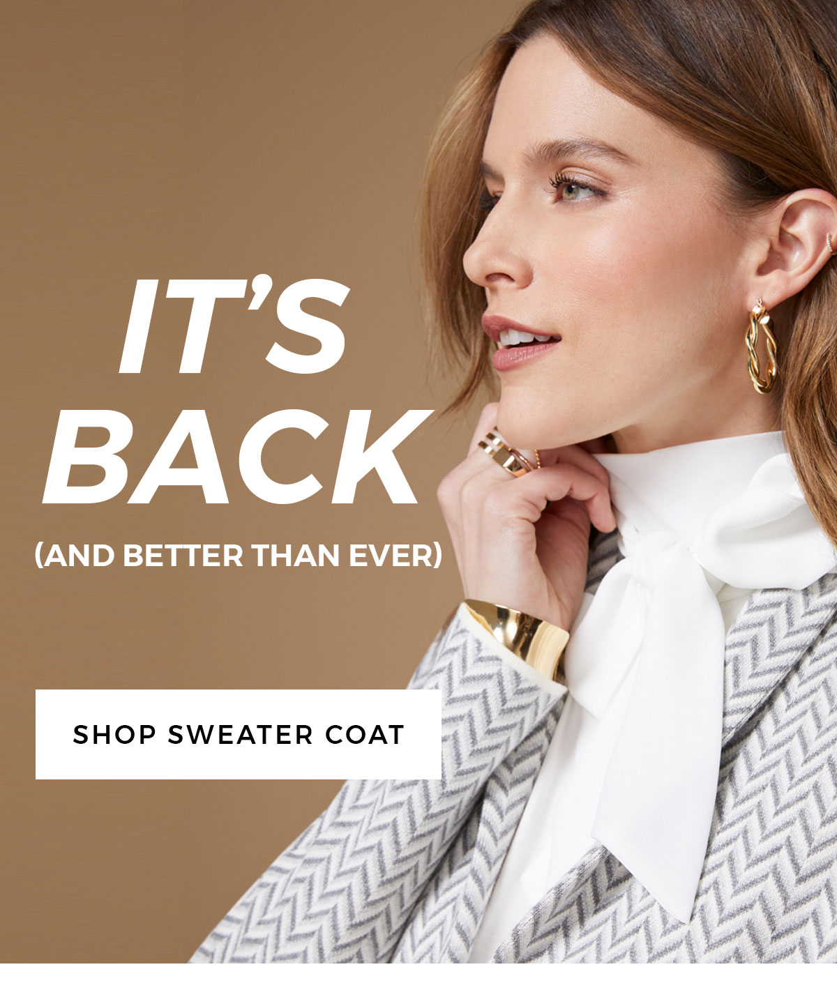 IT'S BACK (and better than ever) SHOP SWEATER COAT