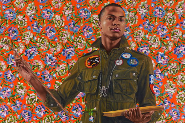 Seattle Art Museum - Anthony of Padua (detail), 2013, Kehinde Wiley, oil on canvas, Gift of the Contemporary Collectors Forum, 2018.3, © Kehinde Wiley.