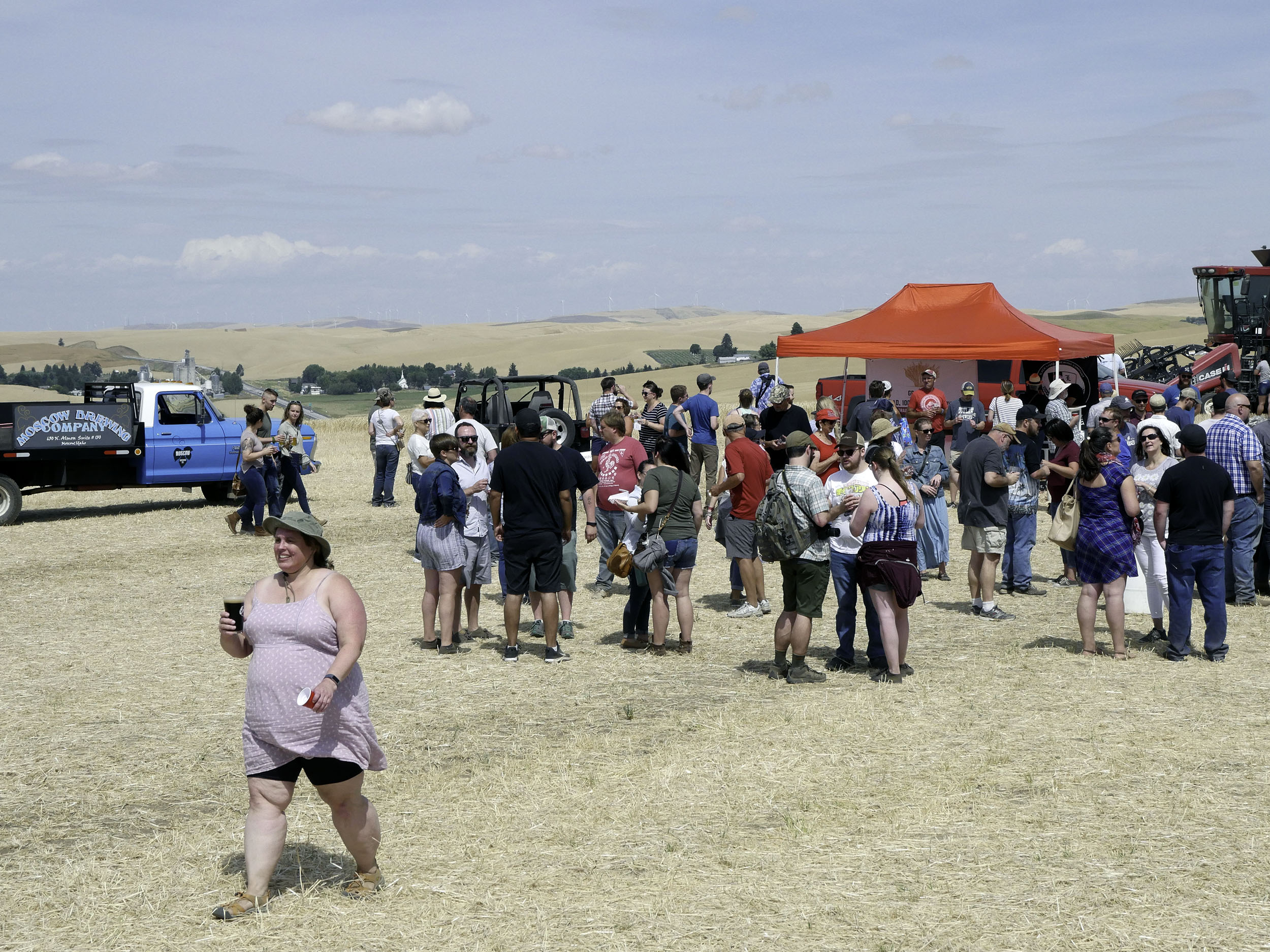 People gather at a beer festival in Eastern WA