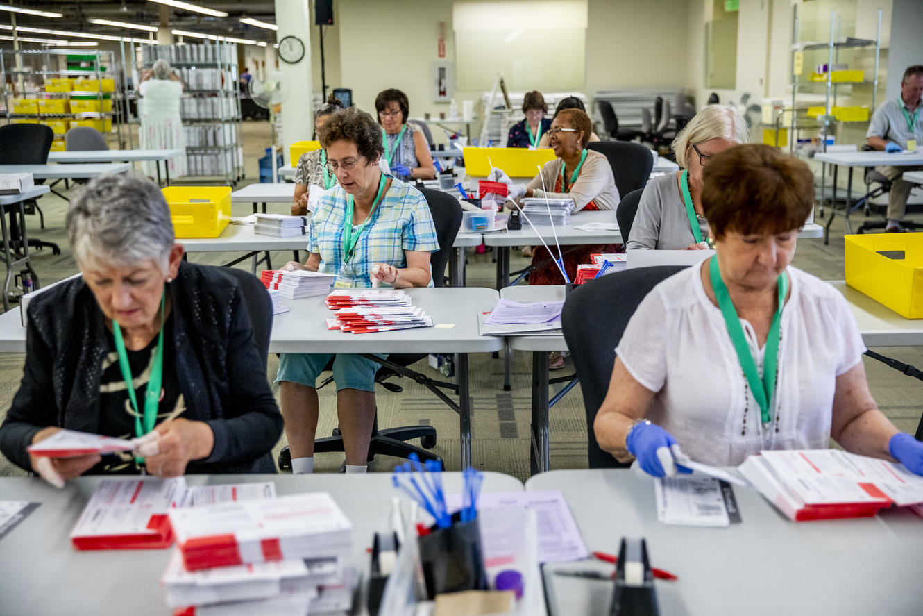 King County elections workers count ballots