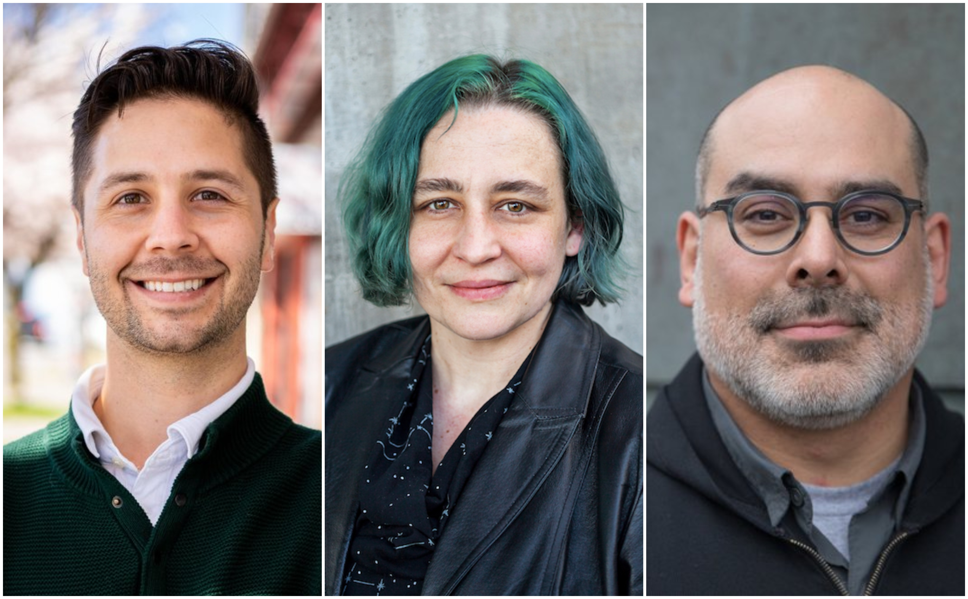 Former Seattle City Council candidates Zachary DeWolf, Melissa Hall, and Christopher Peguero