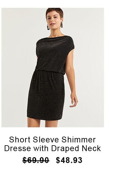 short-sleeve-shimmer-dresse-with-draped-neck