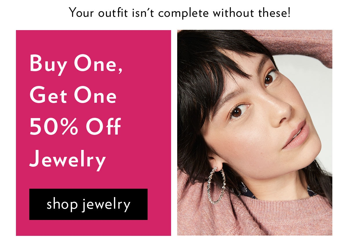 Buy One, Get One 50% Off Jewelry