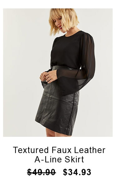 textured-faux-leather-a-line-skirt