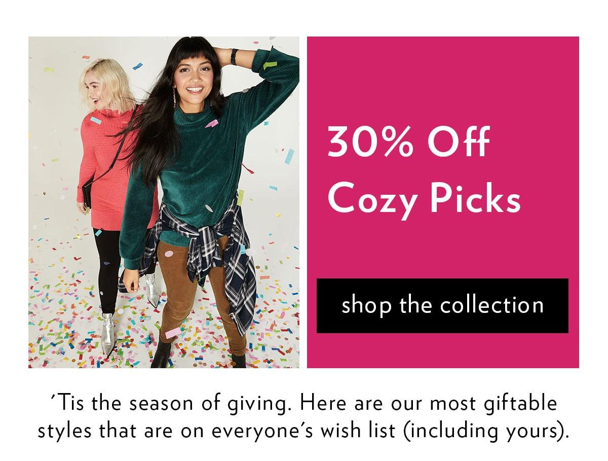 30% Off Cozy Picks